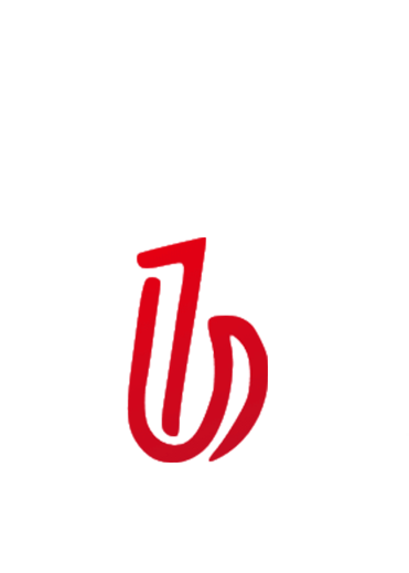 Contrast color High Collar Sweater-White